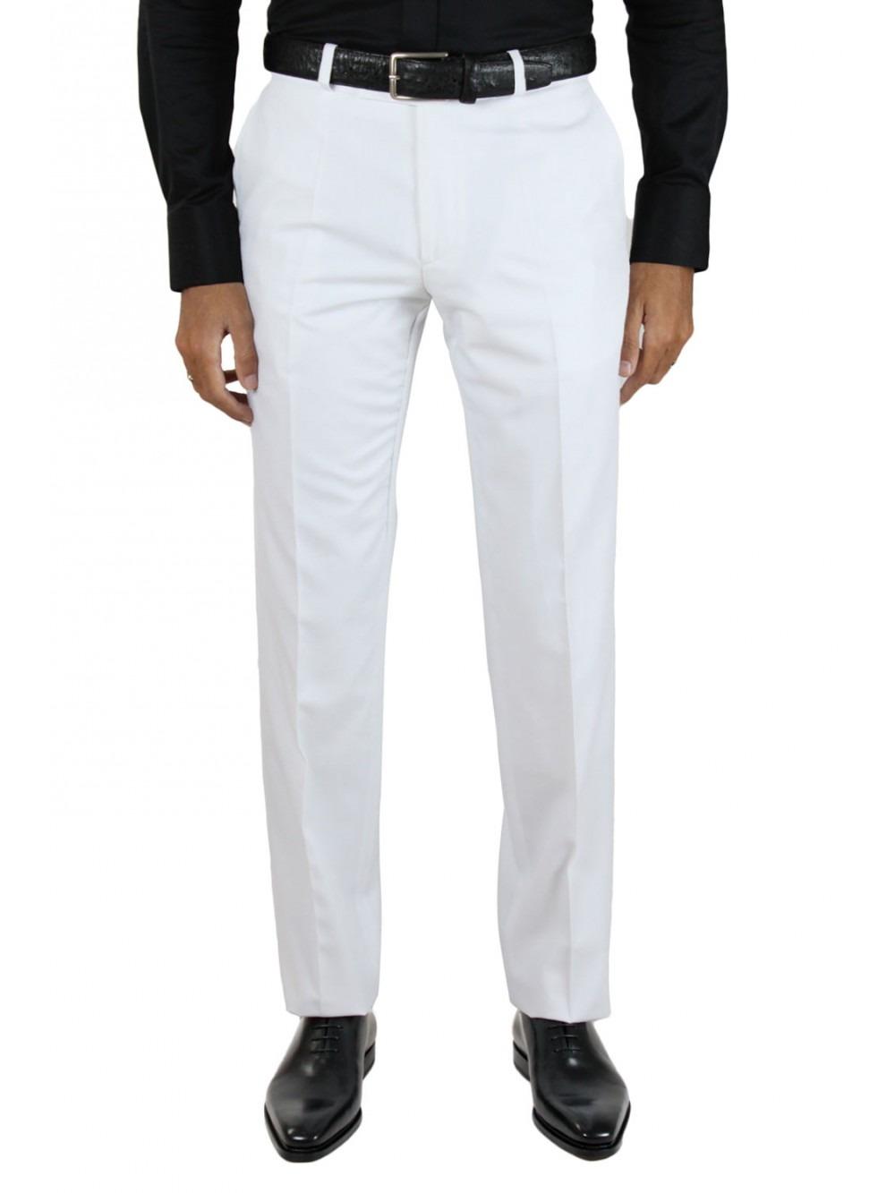 pantalon blanc chic homme. Black Bedroom Furniture Sets. Home Design Ideas